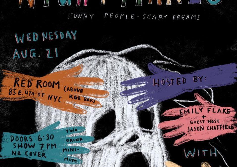 Nightmares: Funny People, Scary Dreams Ep 1: Gastor Almonte,  Hollie Harper, Doogie Horner, Sarah Cooper, hosts Emily Flake & Jason Chatfield