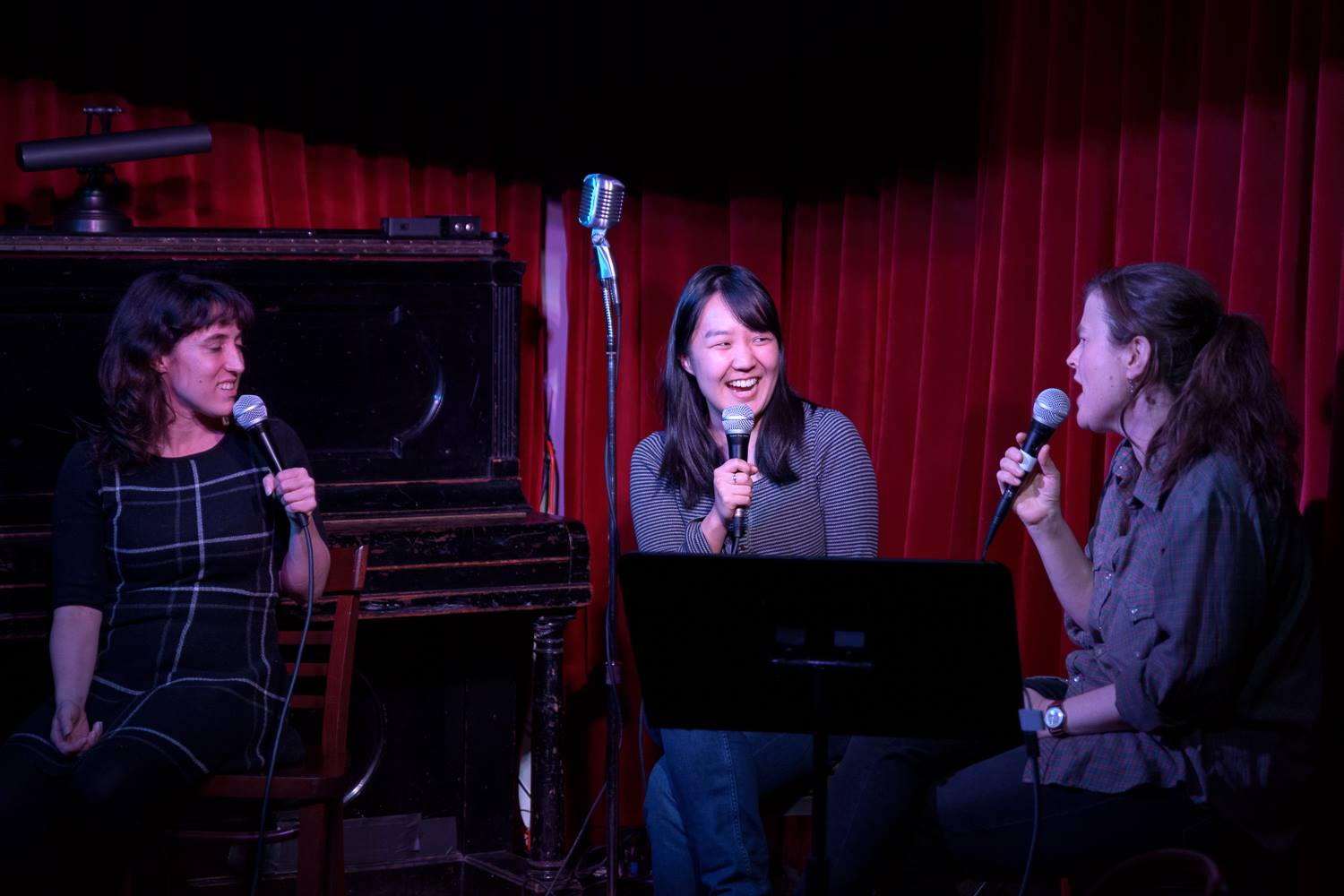 Karen Chee with Kate Willett and Emily Flake at NIGHTMARES