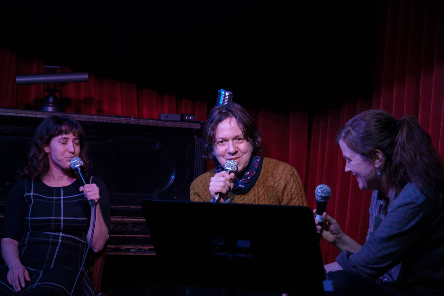 Dave Hill with Kate Willett and Emily Flake