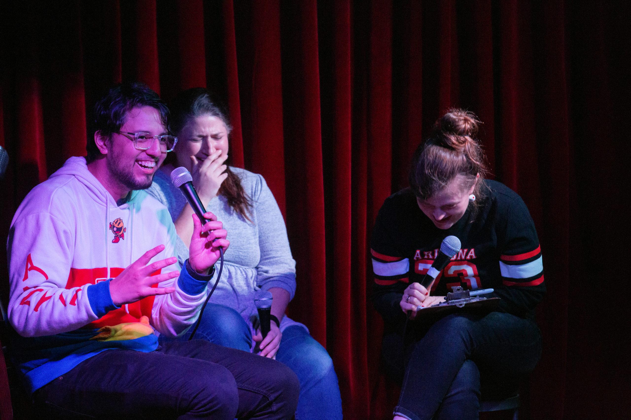 Felipe Torres Medina, Kat Burdick, Emily Flake at NIGHTMARES