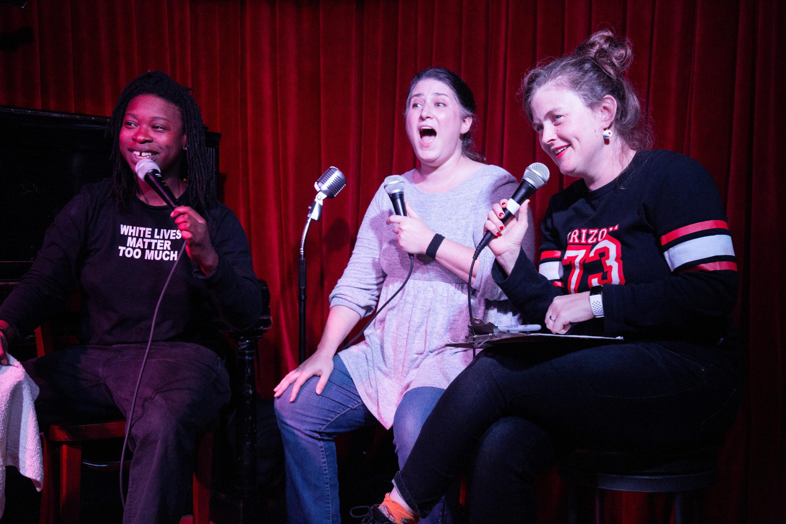 Elsa Eli Waithe, Kat Burdick, Emily Flake at NIGHTMARES