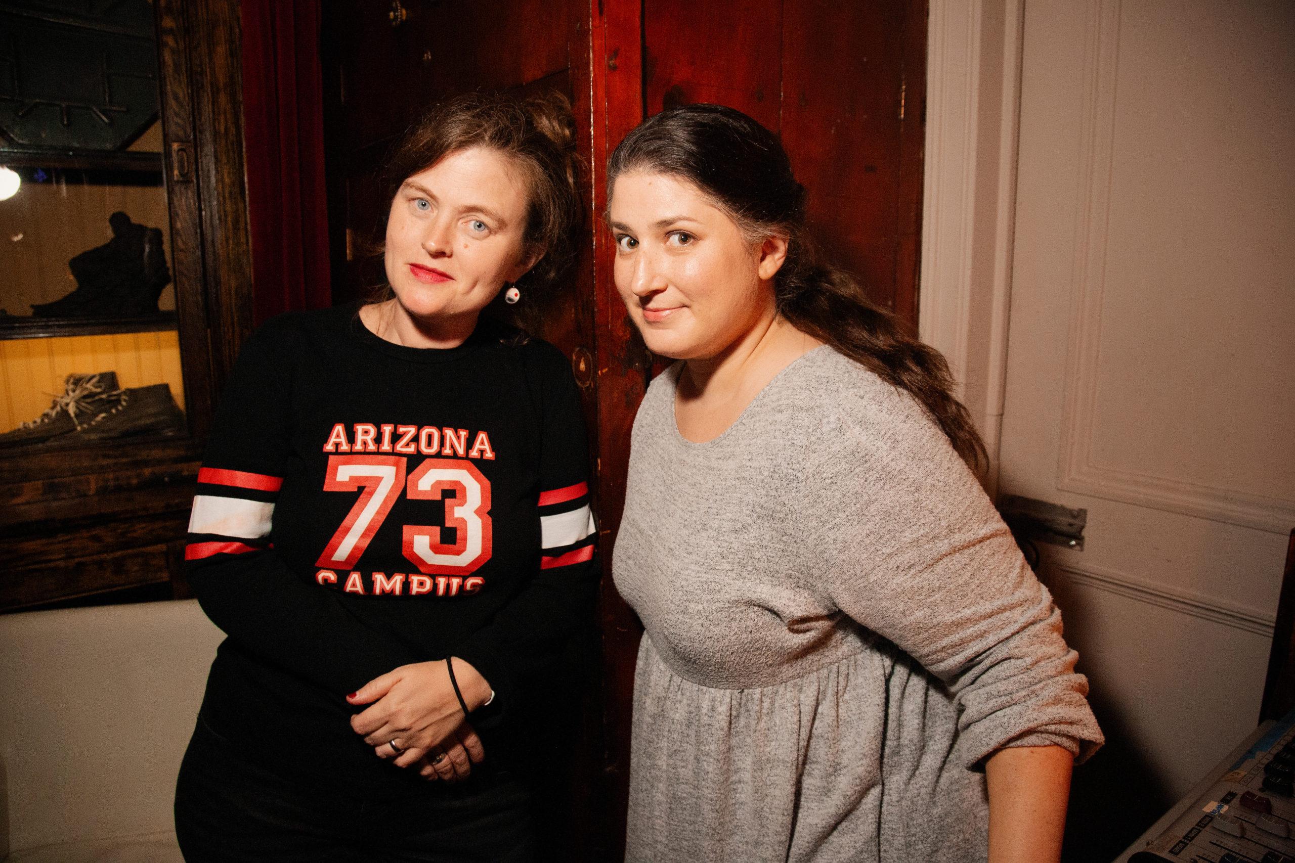 Emily Flake and Kat Burdick at NIGHTMARES