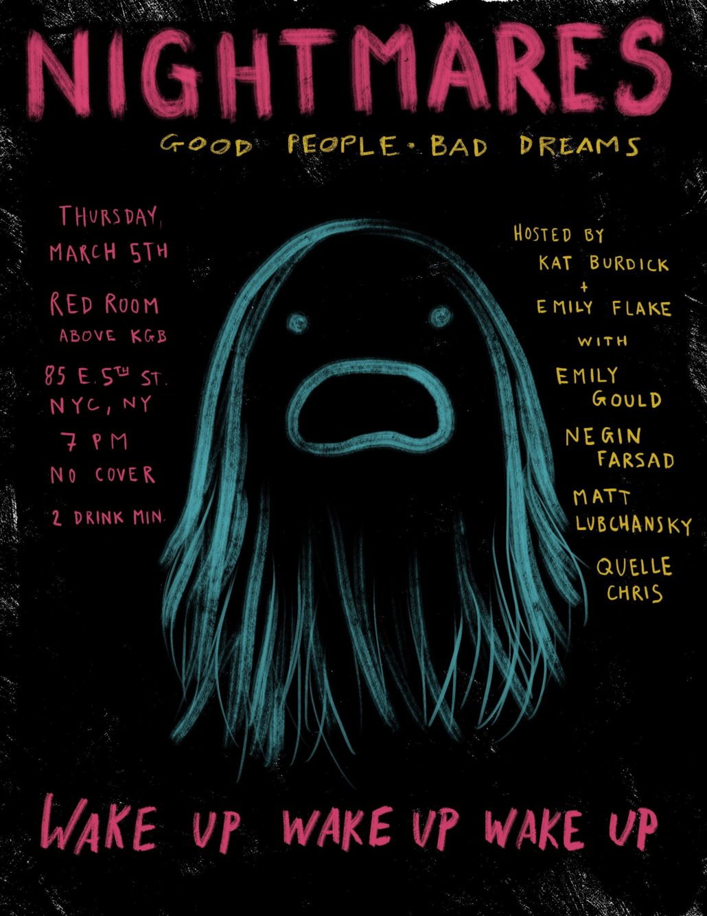 Next live Nightmares show Thurs March 5, 2020 at KGB